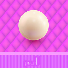 Pearl on the pink background wallpaper. Vector illustration.