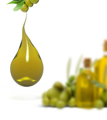 olive oil droplet