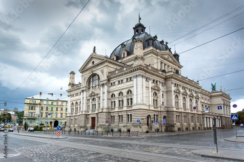 Foto op Canvas Theater Lviv Opera and Ballet Theater, Ukraine