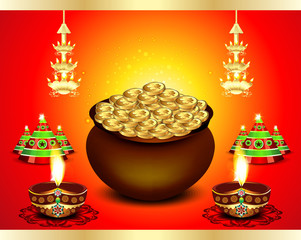 diwali Festival Background  with money