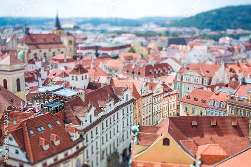 Aluminium Praag Prague - Tilt shift lens.