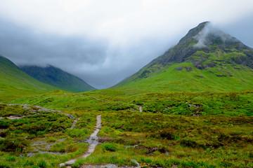 Bad weather at Glen Coe, Scotland