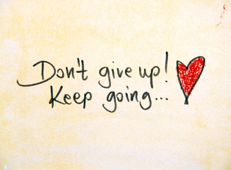 motivational message dont give up