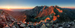canvas print picture - Mountain sunset panorama from peak - Slovakia Tatras
