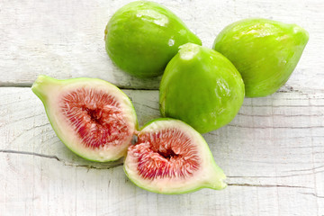 ripe figs with Parma ham