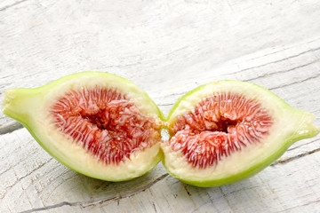 opened fig with ripe pulp