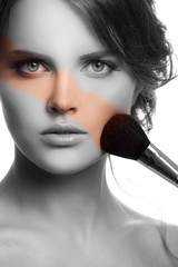 Makeup Face. Make-up Concept.