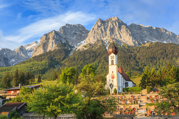 Bavaria landscape and Zugspitze top of Germany
