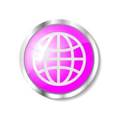 Pink web button