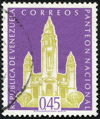 stamp printed in the Venezuela shows National Pantheon, Caracas
