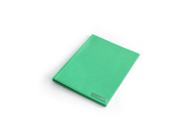green folder isolated