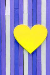 Heart shape on wooden vintage wall
