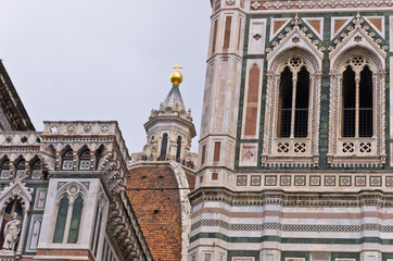 Details of Santa Maria cathedral in Florence, Tuscany