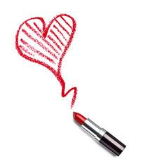 lipstick beauty make up heart love