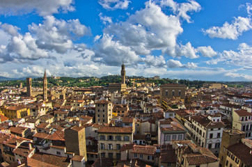 Panorama of Florence, Palazzo Vecchio and other landmarks