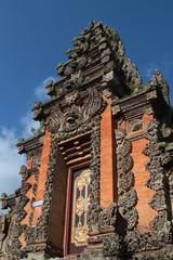 Porte de palais à Ubud, Bali