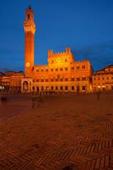 Piazza del Campo with Palazzo Pubblico