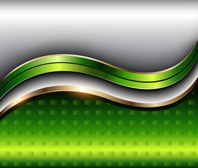 Abstract background silver green