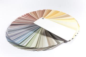 Pastellfarben Farbfächer