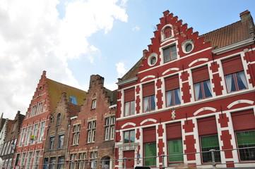 Típicas casas colores en Brujas