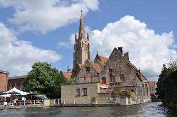 Paisaje campanario Brujas, Bélgica