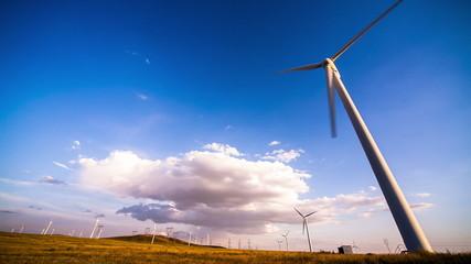 Windpower. Wind turbines