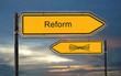 Strassenschild 18 - Reform