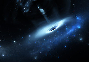 Stars falls into a black hole