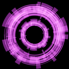 Purple circle on a black background. Raster