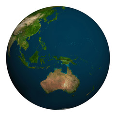 Planet earth. Australia, Oceania and part of Asia.