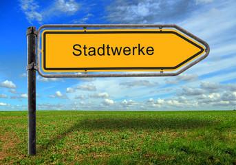 Strassenschild 17 - Stadtwerke