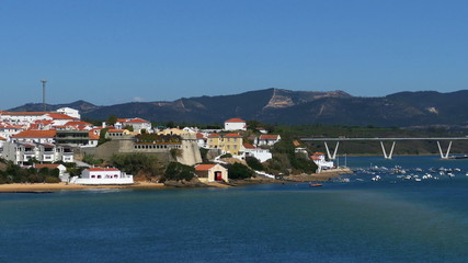 Panoramic View of Resort Town, Bay and Beach, Portugal