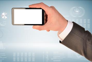 Hand hold smart phone
