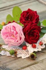 Rosenstilleben im Herbst