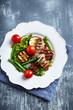 Grilled pork with vegetables