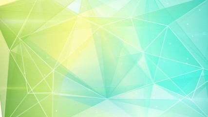 abstract triangle geometrical green cyan background loop