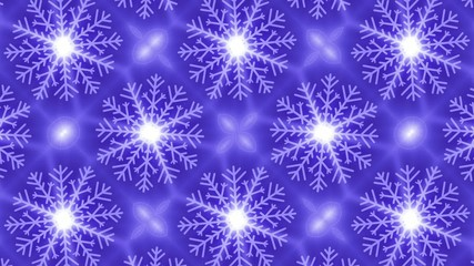 abstract loop motion background, snowflake kaleidoskop