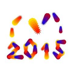 New Year 2015 congratulations card