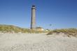 canvas print picture - Grenen (Skagen, Dänemark) - Grauer Leuchtturm