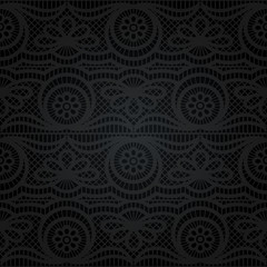 Seamless lace. Abstract floral pattern