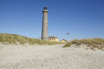 Grenen (Skagen, Dänemark) - Grauer Leuchtturm