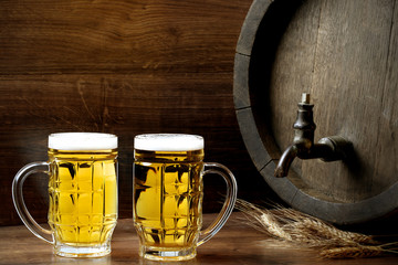 Beer with barrel