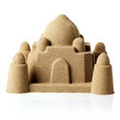 Sandcastle at the beach isolated over white - 69842623
