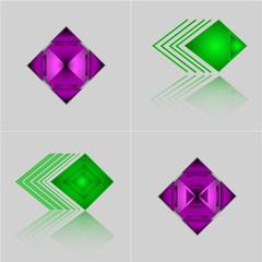 set of Abstract Geometric Triangle Pattern for your design