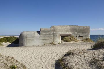 Skagen (Dänemark) - Küste mit Bunker aus dem 2. Weltkrieg