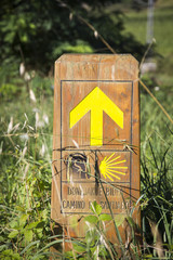 Way of Saint James yellow arrow