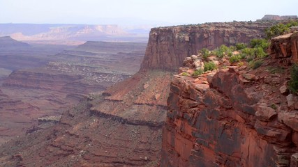 Slow pan from right to left - Canyonlands National Park