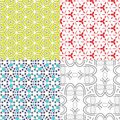 set pattern - geometric seamless simple modern texture with