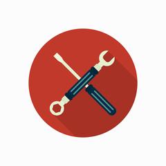 spanner & screwdriver icon illustration