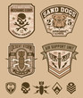 Desert military emblem patch set - 69843276